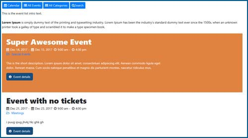 event lists Event Registration Pro Calendar For Wordpress